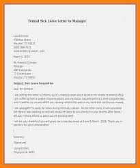 5 Sick Leave Letter To Manager New Looks Wellness