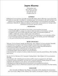 Training Specialist Resume Communications Specialist Resume Specialist Barraques Org