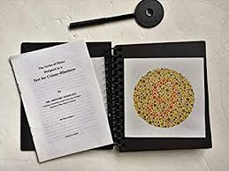 Amazon Com Ishihara Test Chart Books For Color Deficiency