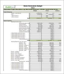 Home Remodel Estimate Template Home Remodel Budget Template Template Creator
