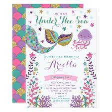 Birthday Invitation Party Mermaid Birthday Invitation Under The Sea Party