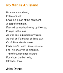 steps to writing no man is an island essay self reliance no man is an island essay