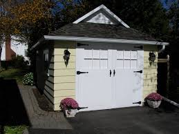 craftsman style garage doorscraftsman style garage doors Shed Craftsman with container plants