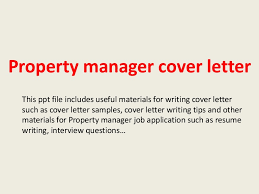 Best Ideas Of Property Manager Job Application Cover Letter Stunning