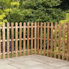 image to enlarge 4ft x 6ft waltons picket round top garden fence panels