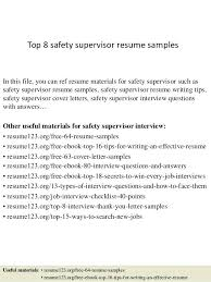 aviation maintenance manager resume example sample for supervisor kitchen  top 8 safety samples 1 resum
