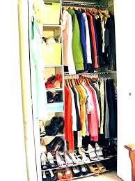 hanging closet rod double hang organizer rods mainstays on drywall hanging closet rod