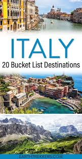 20 best places to visit in italy map