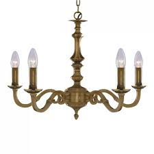 malaga 5 light antique brass