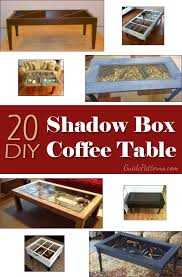 20 diy shadow box coffee tables