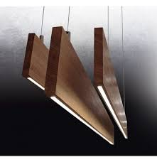 lighting design wood pendant light with micro led commercial light about space