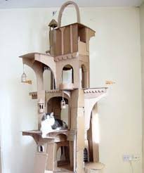 Cat Playhouse Designs Man Builds Dragon Shaped Cardboard House For His Cat Cat