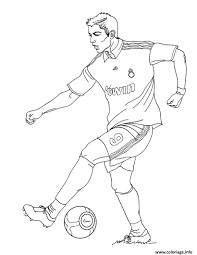 Coloriage Cr7 Joueur De Football Ronaldo Cristiano 7 Real Hala