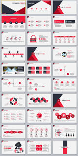 Creating Powerpoint Templates 30 Red Infographics Business Powerpoint Template 2018
