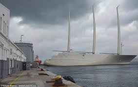 russian billionaire s mammoth £360m sailing yacht a daily mail one of the world s biggest sailing yachts masts that stand taller than london icon