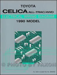 1990 toyota celica wiring diagram manual original 1990 toyota celica all trac 4wd wiring diagram manual original