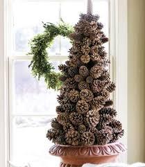 A Styrofoam Cone  Mini Pinecones U003d Rustic Christmas Tree By Pine Cone Christmas Tree Craft Project