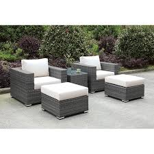 outdoor patio chair ottoman end tables