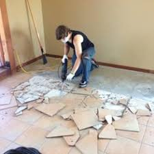 removing tile from concrete floor