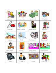 Preschool Kids Chore Chart Template Free Download