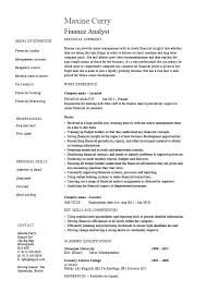Credit Analyst Resume Best Finance Analyst Resume Example Templates Manager Giancarlosopo