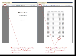 College Report Title Page How To Make A Cover Page For Your Sql Server Ssrs Report