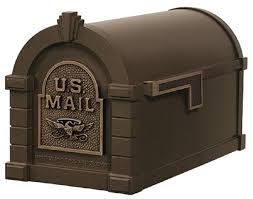 Post Mount Mailbox Cast Aluminum T3 Bronze Outgoing Mail Indicator