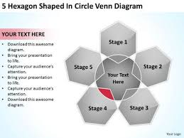 Venn Diagram 5 Circles 5 Hexagon Shaped In Circle Venn Diagram Ppt How To Do Business Plan