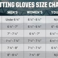 Batting Glove Size Chart Batting Glove Youth Size Chart Images Gloves And