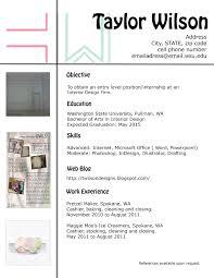 Sample Resume Of Interior Designer Interior Design Resume Samples