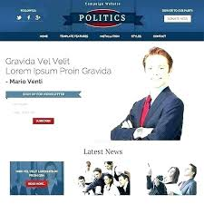 Political Website Templates Best Political Candidate Website Templates Election Results