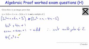 gcse maths algebraksheets maxresdefault how to do algebraic proof revision higher level exam foundation simplifying fractions