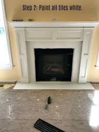 how to paint fireplace tile horrible change fireplace stencil tile using chalk paint designs painting ceramic how to paint fireplace tile