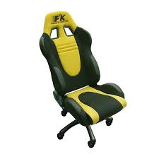 racing seat office chair uk. fk automotive racecar black/yellow racing office chair seat uk .
