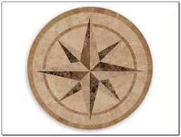 compass rose rug round