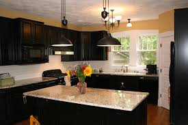ebony wood sage green lasalle door small kitchens with dark cabinets ceramic tile countertops lighting flooring