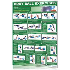 Body Fitness Chart Body Ball Fitness Chart Upper Body
