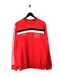 adidas 83 c. adidas 83-c crew sweatshirt in scarlet adidas 83 c
