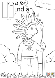 Small Picture Letter I is for Indian coloring page Free Printable Coloring Pages