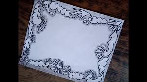 How To Decorate A Chart Paper Border Black Border Design White Sheet Decoration Using Black