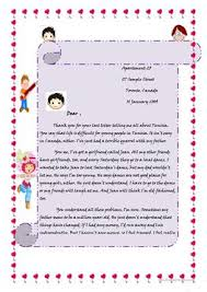 a letter to a friend fun activities games reading prehension exercis 1