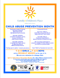 child abuse flyers child abuse prevention month events family and childrens place
