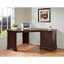 office furniture desk vintage chocolate varnished. Fair Home Office Design Ideas With Two Person Corner Desk : Foxy Decorating Using L Furniture Vintage Chocolate Varnished