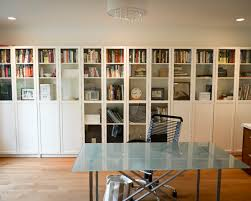 home office wall storage. Extraordinary Ikea Bookshelves With Glass Doors : Contemporary Home Office Wall Of Book Storage S