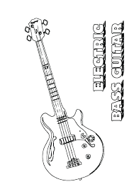 guitar coloring sheets pages epic ring page fee bass fish picture to print clef cool striped guitar coloring sheets