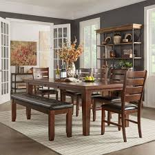 Rustic Modern Apartment Dining Room Design With Antique Track Appealing  Small Presenting Rectangle Brown Varnishes Oak