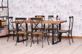 wood and wrought iron furniture. Traditional Wrought Iron Kitchen Table For Dining Room Set With Solid Wood  Top And Furniture O