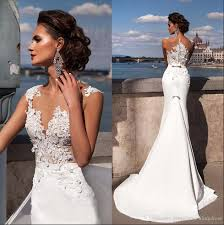 2017 new light fishtail wedding dress mermaid vintage small