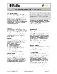 The Budget Model Methods Factors Ledger Budget Sales Budget
