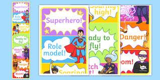 Superhero Themed Behaviour Reward Chart Superhero